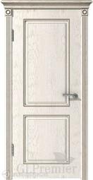 Межкомнатная дверь ВФД GL PREMIER 21 слоновая кость патина капучино