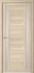Межкомнатная дверь Фрегат (ALBERO) Рига Лиственница Мокко, стекло мателюкс