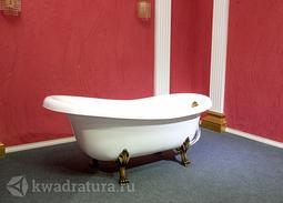 Каменная ванна Bristol Эдельвейс 170*82,7 белая с бронзовыми ножками