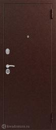 Дверь входная металлическая Сибирь S-2 медь/миланский орех
