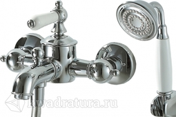 Cмеситель для ванны с коротким изливом и душевым гарнитуром BRAVAT ART F675109C-B