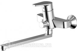 Смеситель для ванны с длинным изливом и душевым гарнитуром BRAVAT LINE F65299C-LB-RUS