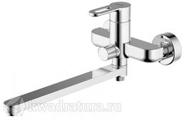 Смеситель для ванны с длинным изливом и душевым гарнитуром BRAVAT STREAM-D F637163C-LB
