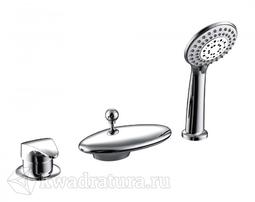 Встраиваемый смеситель ндля ванны на три отверстия BRAVAT NIAGARA F5140197CP-RUS