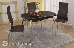 Обеденный стол раздвижной с хромированными ножками Ницца Т1 вариант 4 ТР