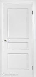 Дверь межкомнатная Дера Нордика 1158 ГЛ белая эмаль