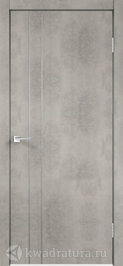 Межкомнатная дверь Velldoris (Веллдорис) Техно M2 с замком Муар светло-серый