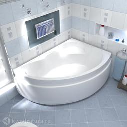 Акриловая ванна Бас Лагуна 170*110 БЕЗ ГИДРОМАССАЖА левая/правая