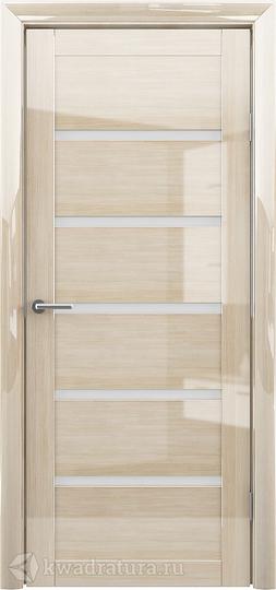 Межкомнатная дверь Фрегат (ALBERO) Вена глянец мокко, стекло мателюкс