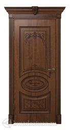 Межкомнатная дверь ДвериХолл Вителия Экошпон Дуб Янтарный, глухая