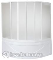 Шторка для ванны Бас Хатива  6 створок (пластик Вотер, Космос)