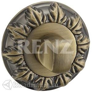 Дверная завертка RENZ BK 10 BIG MAB, бронза ант. матовая